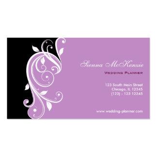 Planificador del boda del remolino plantilla de tarjeta de visita
