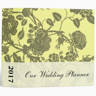 Planificador del boda del rosa amarillo