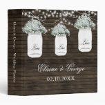 Planificador del boda del tarro de albañil de la carpeta 3,8 cm