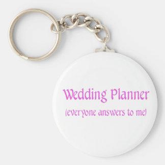 Planificador del boda llavero redondo tipo pin