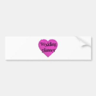Planificador del boda pegatina para auto