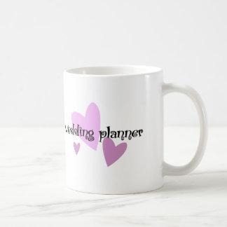 Planificador del boda taza de café