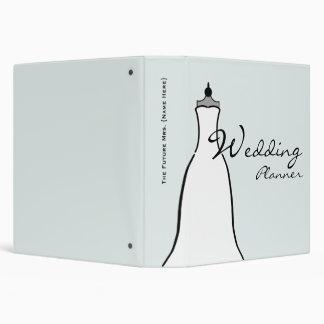 """Planificador del boda - una línea vestido de boda carpeta 1 1/2"""""""