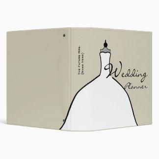 """Planificador del boda - vestido de boda lleno carpeta 1 1/2"""""""