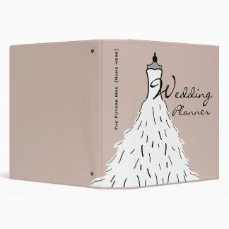 Planificador del boda - vestido de boda plumoso