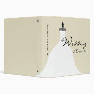 """Planificador del boda - vestido de boda sin carpeta 1 1/2"""""""