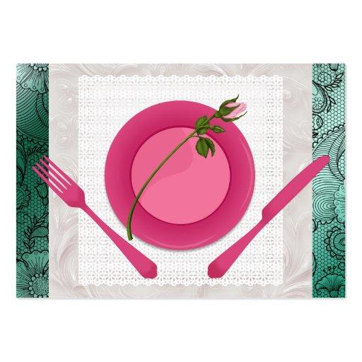 Planificador del cocinero #2/del abastecedor/del tarjetas de visita grandes