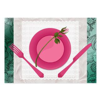 Planificador del cocinero/del abastecedor/del tarjetas de visita grandes