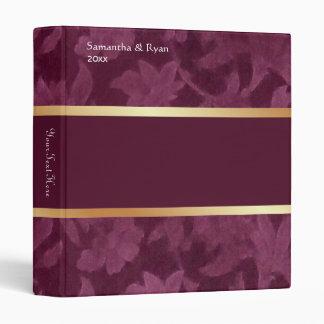 Planificador del damasco de Borgoña Carpeta 2,5 Cm