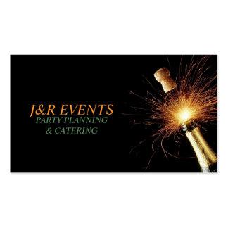 Planificador del fiesta, celebración, plantilla de tarjeta de visita
