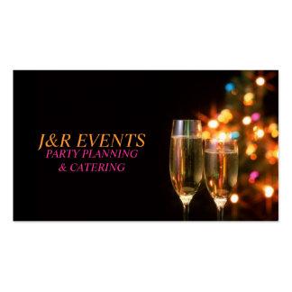 Planificador del fiesta, celebración, plantillas de tarjeta de negocio