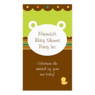Planificador del fiesta de fiesta de bienvenida al plantilla de tarjeta de negocio