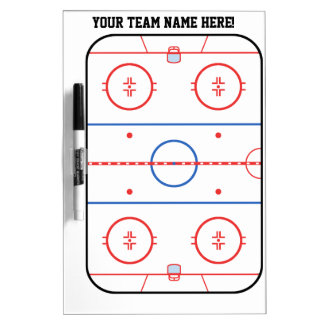 Planificador del juego de la pista del hockey de P Pizarra Blanca