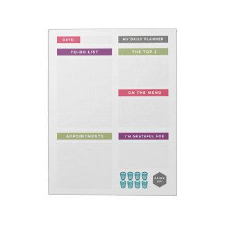 Planificador diario - brillante y simple bloc