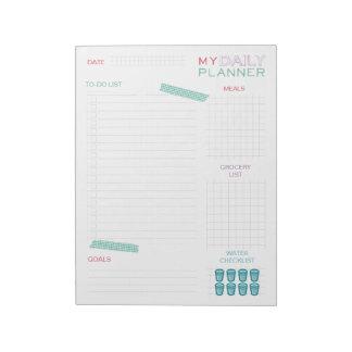Planificador diario lindo bloc