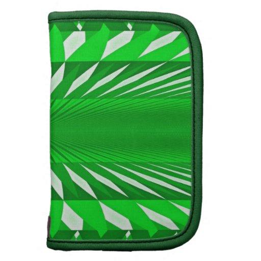 Planificador en folio del carrito en extracto verd