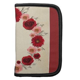 """Planificador en folio del """"de las flores rojas"""