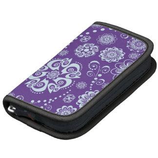 Planificador en folio floral púrpura