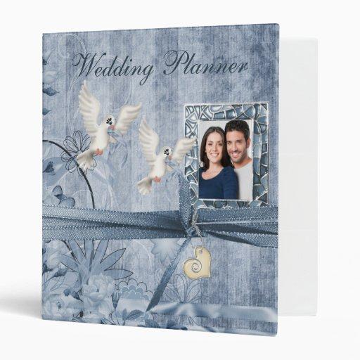 Planificador floral azul de encargo del boda de la