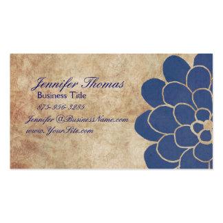 Planificador floral del boda de la dalia azul del tarjetas de negocios