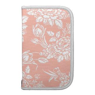Planificador floral grabado en relieve elegante