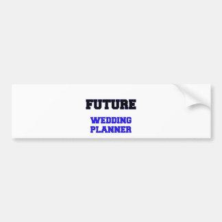 Planificador futuro del boda etiqueta de parachoque