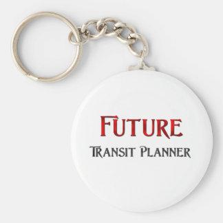 Planificador futuro del tránsito llaveros