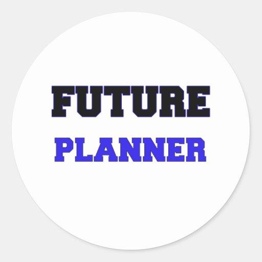 Planificador futuro pegatinas redondas
