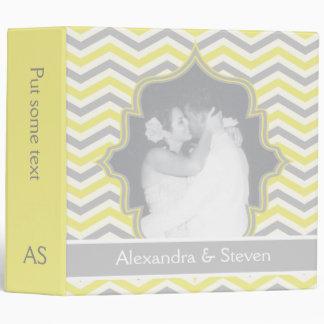 Planificador gris amarillo moderno del boda del
