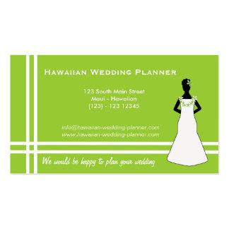 Planificador hawaiano del boda tarjetas de visita