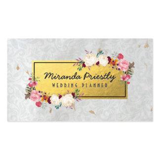 Planificador hecho a mano del boda de papel del tarjetas de visita