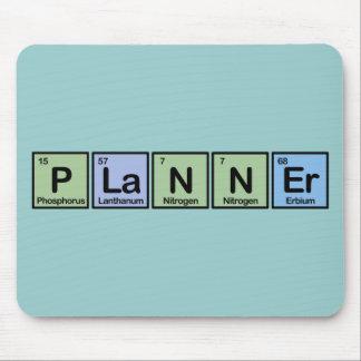 Planificador hecho de elementos mousepads