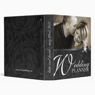 Planificador negro con clase del boda