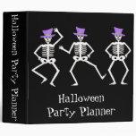 Planificador negro del fiesta de los esqueletos