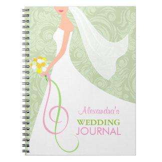 Planificador nupcial del diario del boda de la ver libreta espiral