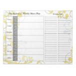 Planificador personalizado semanario floral amaril libreta para notas