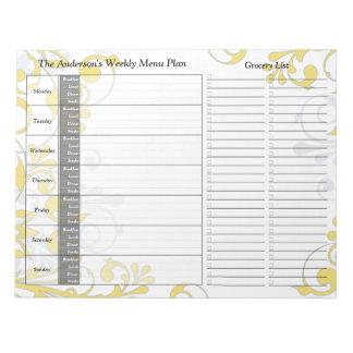 Planificador personalizado semanario floral amaril blocs