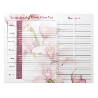 Planificador personalizado semanario rosado de la  bloc