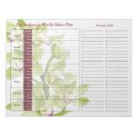 Planificador personalizado semanario verde de la c bloc de papel