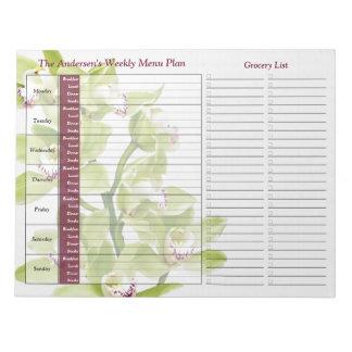 Planificador personalizado semanario verde de la c libreta para notas