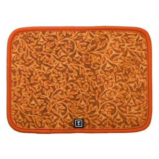 Planificador retro del naranja de la mandarina de
