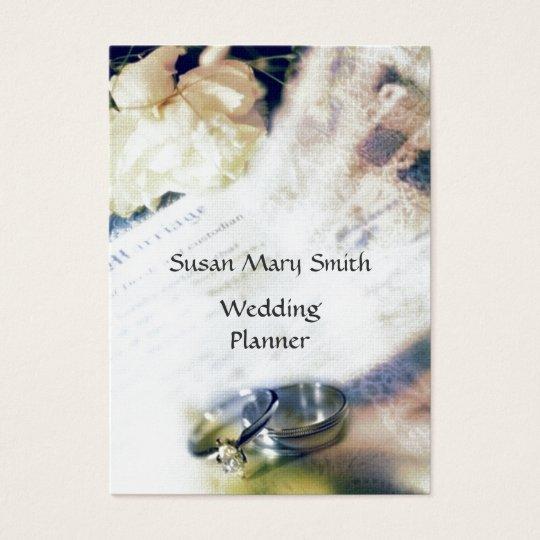Planificador romántico del boda tarjetas de visita grandes
