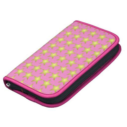 Planificador rosado de Smartphone del folio de la