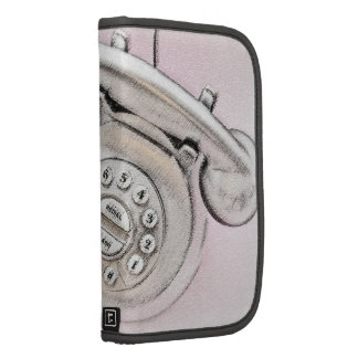 Planificador rosado del día del teléfono