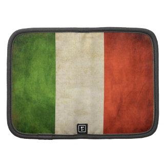 Planificador sucio del vintage con la bandera ital