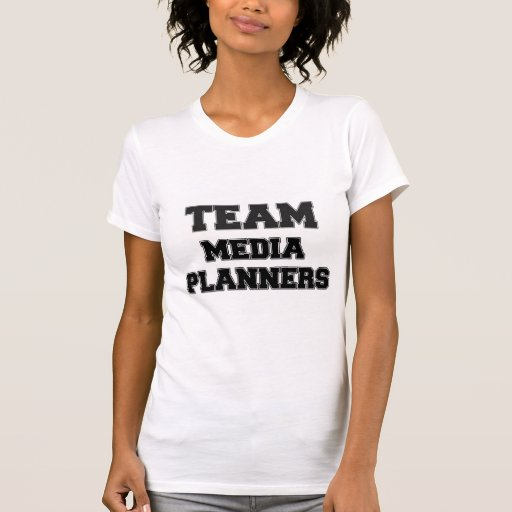 Planificadores de medios del equipo t-shirt