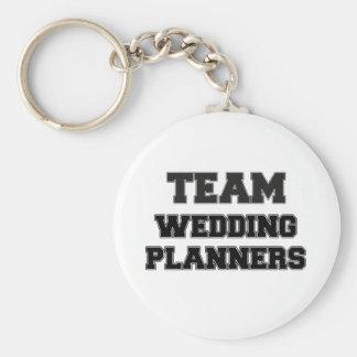 Planificadores del boda del equipo llaveros personalizados