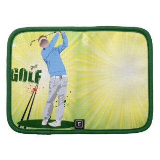 Planificadores del golfista del resplandor solar