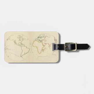 Planisfere (outline) bag tag