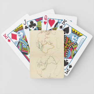Planisfere (outline) playing cards